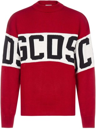GCDS Band-logo Cotton-blend Sweater
