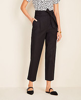 Ann Taylor The Petite Paperbag Belted Pant