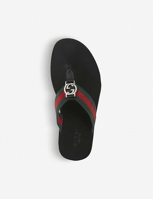 Gucci Web-print flip-flops