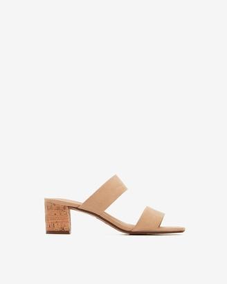 Express Double Band Block Heel Sandals