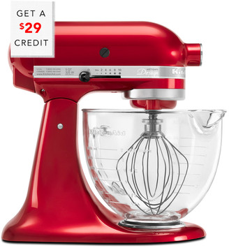 KitchenAid Artisan Design Series 5Qt Tilt - Head Stand Mixer With Glass Bowl - Ksm155gbca With $39 Credit