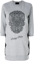 Philipp Plein Emelia sweatshirt dress - women - Cotton/Polyamide/Spandex/Elastane - M