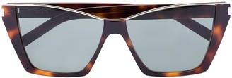 Saint Laurent Eyewear Kate tortoiseshell D-frame sunglasses