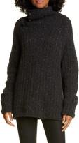 Rag & Bone Klark Ribbed Wool Blend Mock Neck Sweater