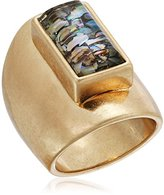 Kenneth Cole New York Geometric Abalone Stone Sculptural Ring, Size 8.5