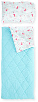 Sugar Lulu Girls' Sleeping Bag Set, Aqua/Fuchsia