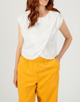 Madewell Madri Collection Short-Sleeve Crossover Nursing Top