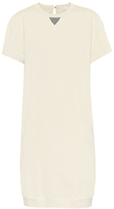 Brunello Cucinelli Stretch-cotton midi dress