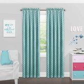 Solar Shield® Kids Theo 84-Inch Rod Pocket Room Darkening Window Curtain Panel in Turquoise
