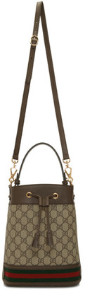Gucci Beige GG Supreme Small Ophidia GG Bucket Bag