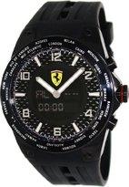 Ferrari World Time Carbon Fiber Dial Multinfuction Rubber Strap Mens Watch FE-05-IPB-FC