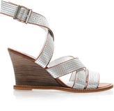 ASOS Leather Punched Wedge Sandals