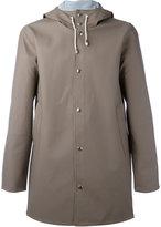 Stutterheim drawstring hood raincoat - men - PVC - XS