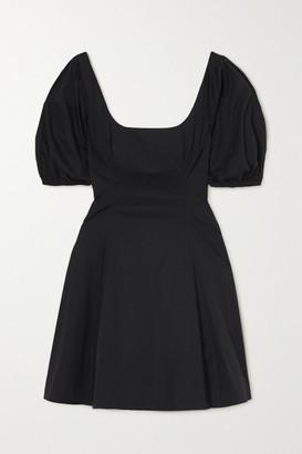 STAUD Laelia Stretch-cotton Poplin Mini Dress - Black