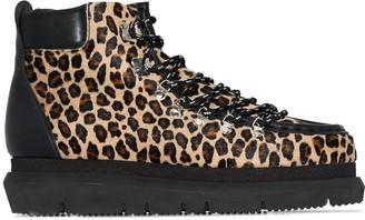 Sacai Leopard-Print Hiking Boots