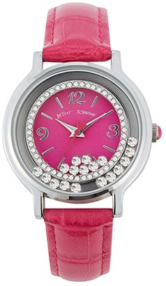 Betsey Johnson Moving Crystals Watch (Silver) Watches