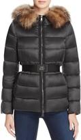 Moncler Tatie Fur Hood Short Down Coat
