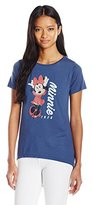 Disney Junior's Minnie 1928 High Low Roll Cuff Drapey Graphic Tee
