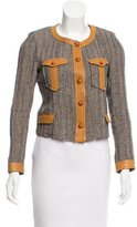 Isabel Marant Leather-Trimmed Tweed Jacket