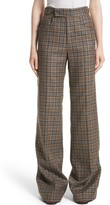 Marc Jacobs Women's Plaid Wool Blend Wide Leg Pants
