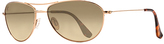 Maui Jim Gold & Bronze Baby Beach Polarized Aviator Sunglasses