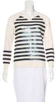 Gryphon Embellished Striped Sweater