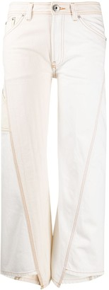 Lanvin Twisted Stitches Cropped Jeans