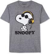 JEM Men's Peanuts Snoopy DJ T-Shirt
