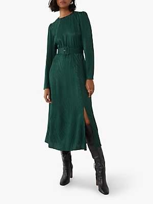 Warehouse Zebra Print Midi Dress, Green