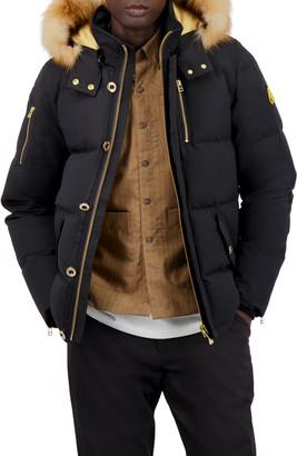 Moose Knuckles Men's Minnentonka Quilted Jacket w/ Fur Collar