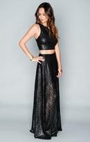 MUMU Princess Di Ballgown Skirt ~ Sparkle Lace Black