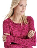 Joe Fresh Women's Long Sleeve Active Tee, Bright Pink (Size S)