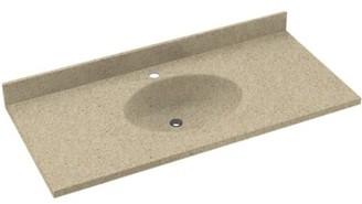 """Swan Chesapeake Solid Surface 43"""" Single Bathroom Vanity Top Top Finish: Prairie"""