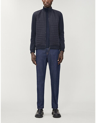 Ted Baker Funnel-neck shell and knitted jacket
