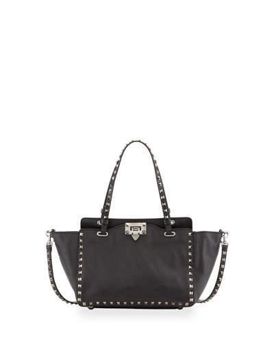 Valentino Noir Rockstud Mini Tote Bag, Black