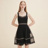 Maje Embroidered strappy dress