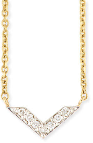 Sydney Evan Two-Tone Diamond Chevron Necklace