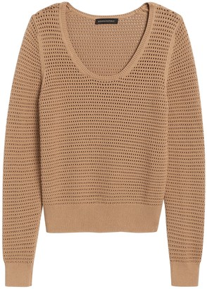 Banana Republic Pointelle Cropped Sweater