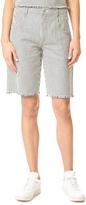 Alexander Wang Frayed Striped Shorts