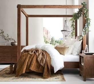Pottery Barn Menlo Reclaimed Teak Canopy Bed