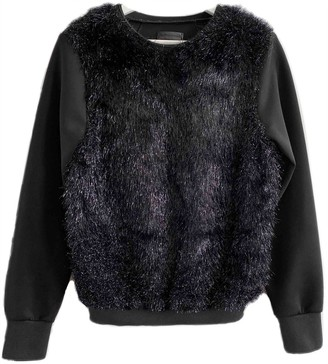 CNC Costume National Black Wool Top for Women