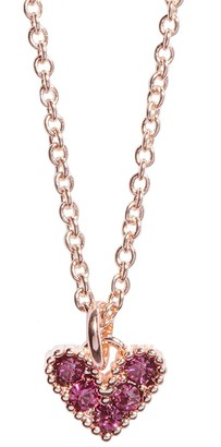 Lauren Conrad Rose Gold Tone & Crystal Pave Heart Necklace