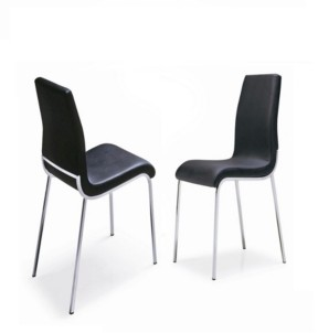 New Spec Inc New Spec Oren Contemporary Leatherette Dining Chair Set of 4 Pieces
