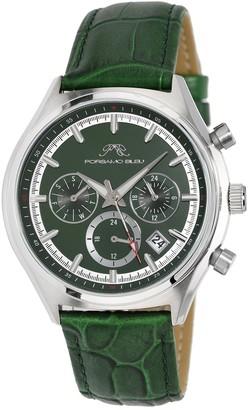 Men's Dylan Miyota Quartz Croc Embossed Leather Strap Watch, 41mm