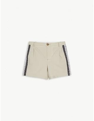 Burberry Monogram-print pleated cotton shorts 3-14 years
