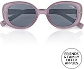 Quay Lulu Rounded Sunglasses- Lilac