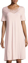Hanro Rosalie Short-Sleeve Nightgown