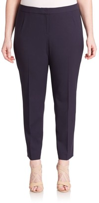 Lafayette 148 New York, Plus Size Stretch Cotton Trousers