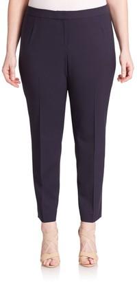 Lafayette 148 New York, Plus Size Stretch Cotton Trousers
