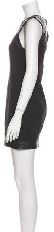 Thumbnail for your product : Alexander Wang Crew Neck Mini Dress Black